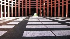 La cour du Parlement européen à Strasbourg.