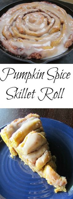 Cooking with Carlee: Pumpkin Spice Skillet Cinnamon Roll with Maple Browned Butter Glaze