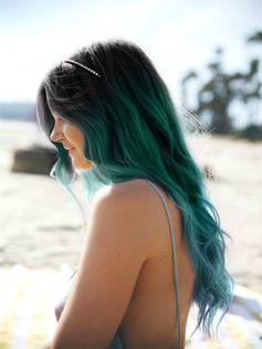 Pontas azuis | Cabelo Colorido