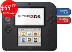 BestBuy.com:  Today Only! Nintendo 2DS = $99.99 + FREE Shipping! Regularly $129.99!