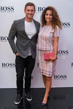Cameron van der Burgh and Nefeli Valakelis wearing BOSS for the Cape Town store opening