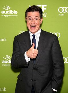 Stephen Colbert is all smiles at the Montclair Film Festival's Celebrity Nerd-Off.