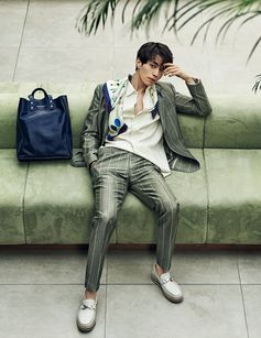 Vibrant sportswear, contemporary tailoring and exceptional accessories—actor Lee Dong Wook, 이동욱, takes a star turn in pieces from the Ferragamo Spring 2017 Men's collection in the March issue of Arena Homme Plus Korea.