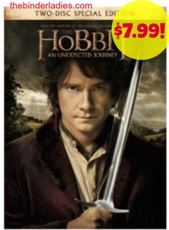 Amazon: The Hobbit: An Unexpected Journey (2-disc special edition) = $7.99 + FREE Shipping Options! Regularly $28.98!