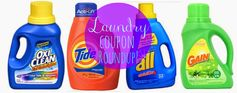 Laundry Coupon Roundup!  Tide, Gain, all, OxiClean + Many More!