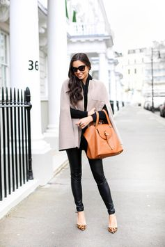Cape and Poncho Outfit Ideas | Wool and Leather