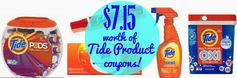 Tide:  $7.15 Worth of Coupons!