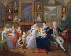 Gabriel Joseph de Froment, Baron de Castille, Princess Hermine Aline Dorothée de Rohan and Family - 19th Century | Community Post: 25 Historical Images That Normalize Breastfeeding