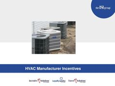HVAC Manufacturer Incentive Programs