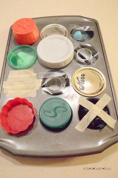 Muffin Pan Surprise | rickabamboo.com | #totschool  #toddleractivities