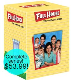Amazon:  Full House Complete Series = $53.99 + FREE Shipping!  Regularly $169!