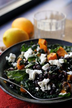 Butternut Squash and Smoky Black Bean Kale Salad by Joanne Eats Well With Others - Full of great flavor for a fall salad.
