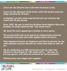 colours of life at Papillon Hotels