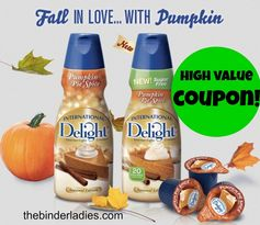 International Delight: High Value $2 off 3 Pumpkin Pie Spice Coffee Creamers Coupon!