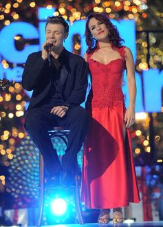 Nick Carter and Sharna Burgess at ABC's 'Dancing with the Stars' Season Finale.