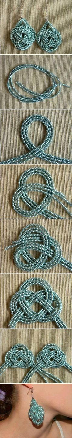 DIY Beads Knot Earrings Picture Tutorial