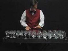 play the nutcracker on the water glasses.