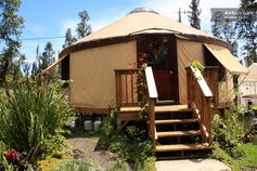 Chic Eco Yurt Home + Edible Gardens in Pahoa, Hawaii -- $65/night
