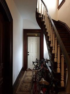 The entryway of a 135-year-old home in Detroit.