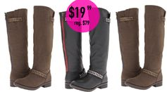6pm:  Gabriella Rocha Balie Boots (riding boots) = $19.99 + FREE Shipping! Regularly $79!