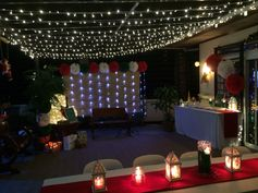 Christmas party by:mishees #stars #christmaslights #lamps #event #eventstyling   email us: mishees@gmail.com