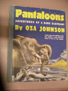 Adventures of a Baby Elephant by Osa Johnson A true story for children from Osa Johnson own observations of life in the jungle Please call 620-431-2730 or email osasark@safarimuseum.com for availability and pricing