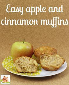 Easy apple and cinnamon muffins, perfect for cooking with kids
