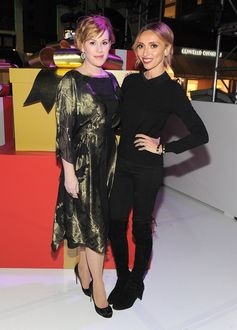 Actress Molly Ringwald and TV host Giuliana Rancic attend the Beverly Hills Holiday Lighting Ceremony on Rodeo Drive on November 22, 2015 in Beverly Hills, California.