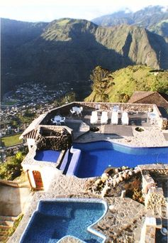 Baños, Ecuador, ive been here! super awesome the pools are warm  or hot. done by mother nature itself