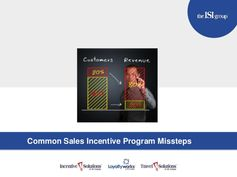 Common Sales Incentive Program Missteps