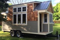 A Sprout Tiny Home that looks a bit like a ski house.