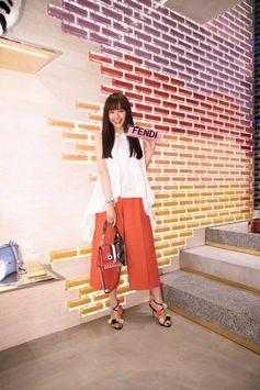 Smiles everywhere at #FendiOmotesando in Tokyo - with Airi Matsui.