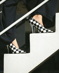 It's game on in new season checkerboard heels from the Summer collection.   Shop shoes at #StellaMcCartney.com