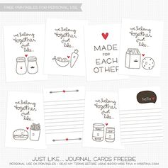 FREE Printable Journal Cards for Valentine's Day | MissTiina.com {Blog}