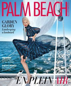 The Fendi SS16 runway dress spotted on the cover of the latest @palmbeachillus issue.