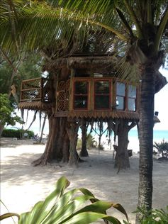 Treehouse on the beach in Holmes Beach, on Anna Maria Island, Florida