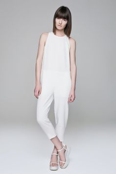 White Jumpsuit BLACKBLESSED  @Black Blessed #black #white #fashion #minimal #basic #elegant #designer #urban #urbanchic #dresses #pants #tshirt #top #leggings #white #simple #simplicity
