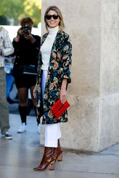 The Best Street Style at Paris Fashion Week Spring 2016 | Embroidered
