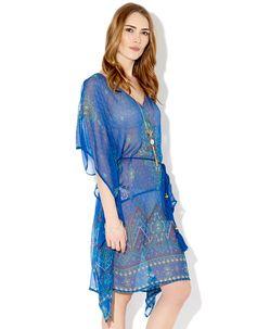 Anya Kaftan Dress   Blue   Monsoon