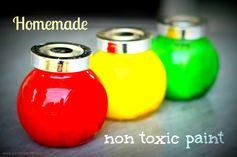 homemade non toxic paint #toddleractivities #totschool