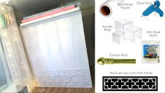 DIY Paper Backdrop Stand Wall Divider Closet Storage: http://bit.ly/1rDNn9v