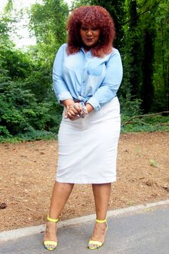 Marie Denee The Curvy Fashionista on The Curvy Fashionista