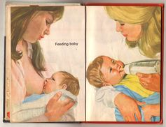 Children's Book Depicting Breastfeeding and Bottle Feeding | Community Post: 25 Historical Images That Normalize Breastfeeding