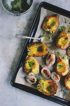 Roasted Acorn Squash with Caramelized Shallots - A tasty fall side dish idea.