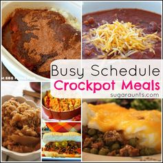 Throw ingredients into the crock pot in the morning, dinner is done! Slow cooker meals for busy families.