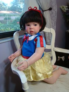 reborned by Maria's Babies So Real babiessoreal.com Snow White toddler