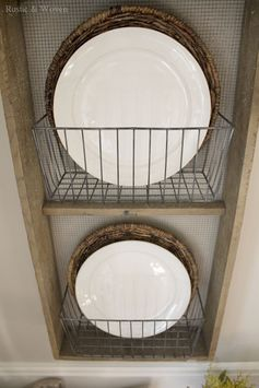 Rustic Farmhouse Plate Baskets