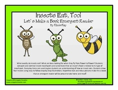 Insects Eat,Too - Emergent Reader - Free on TPT