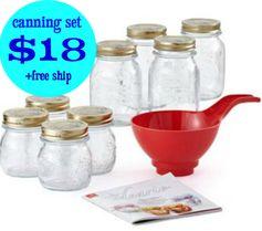 BonTon.com:  Bormioli Rocco 18 Piece Canning Starter Set = $18 + FREE Shipping! Regularly $60!