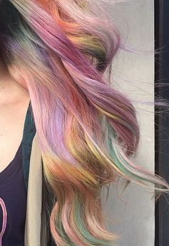 Fabulous Fade // Sand Art Rainbow Hair Color Ideas